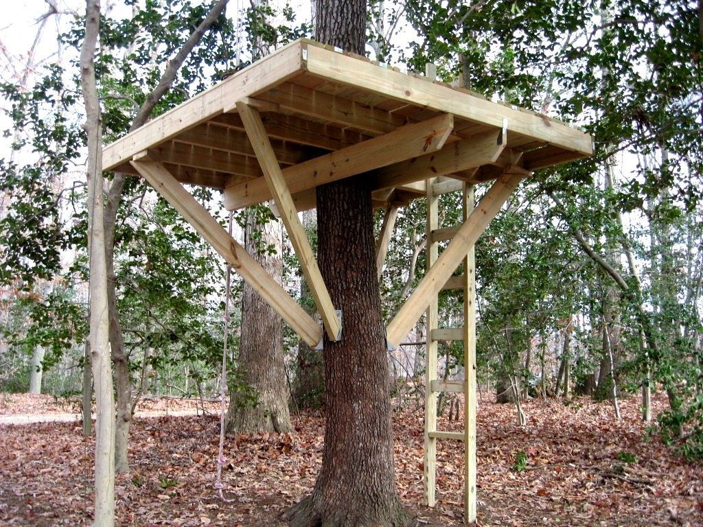 tree house platform - Easy Kids Tree House