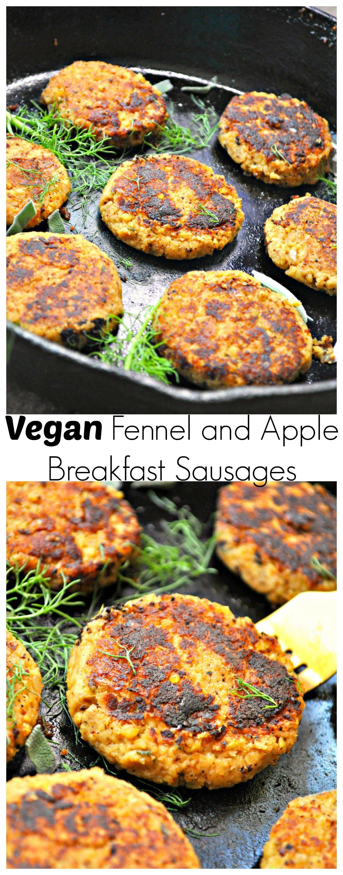 Vegan Fennel And Apple Breakfast Sausages