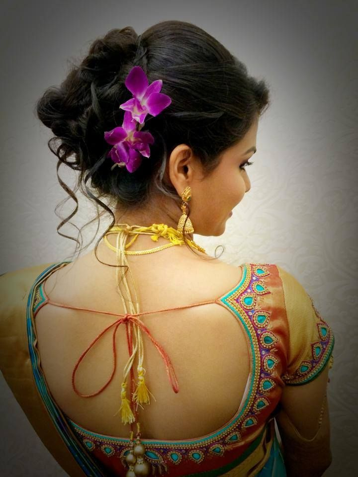 Indian bride's bridal reception hairstyle by Swank Studio. Find us at https://www.faceb… (With ...