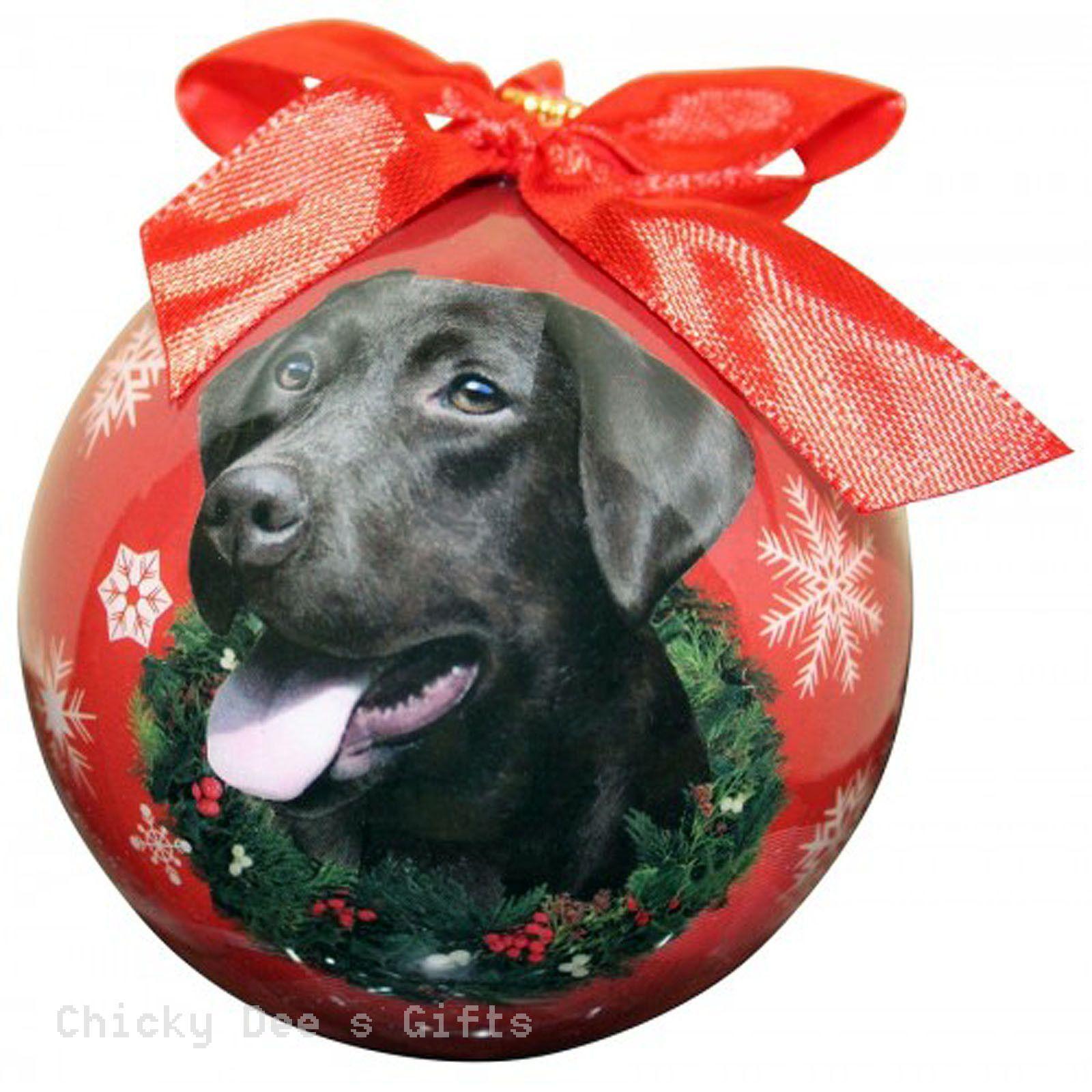 E & S Pets Chocolate Labrador Retriever Shatter Proof Christmas Ball Ornament