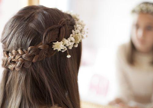 Peinados comunion con corona
