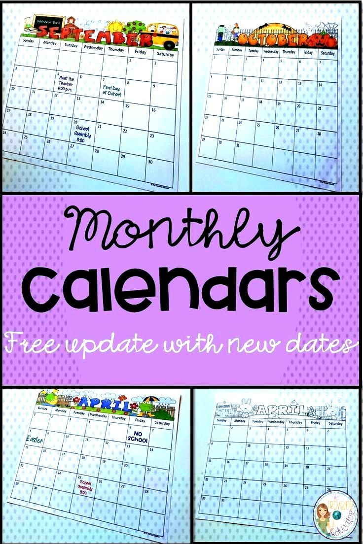 Monthly Calendar Editable Template (2019-2022) Save time in the classroom with these fun, editable,