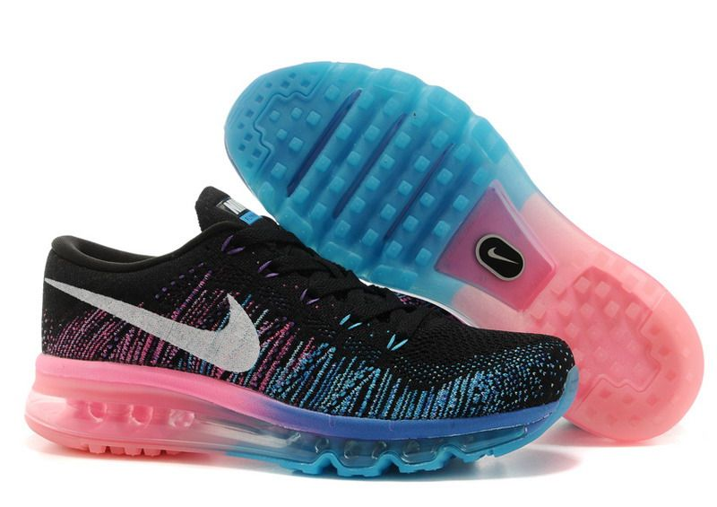 Nike Flyknit Air Max Black Photo Blue Hyper Punch White