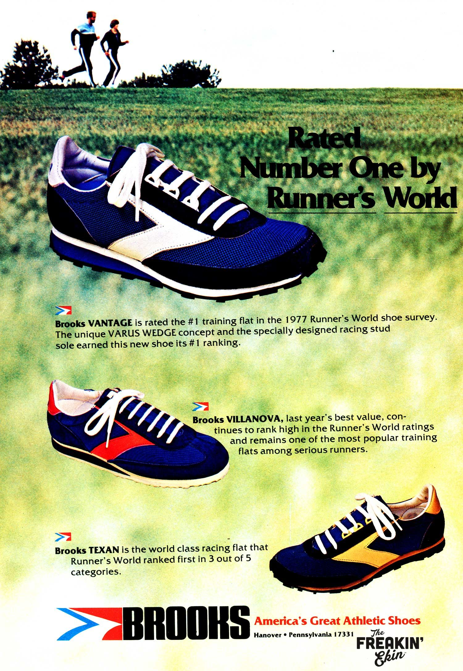 hot sale online d369b 45e80 Brooks 1978 vintage sneaker ad  The Freakin Ekin Brooks Running Shoes,  Vintage Sneakers