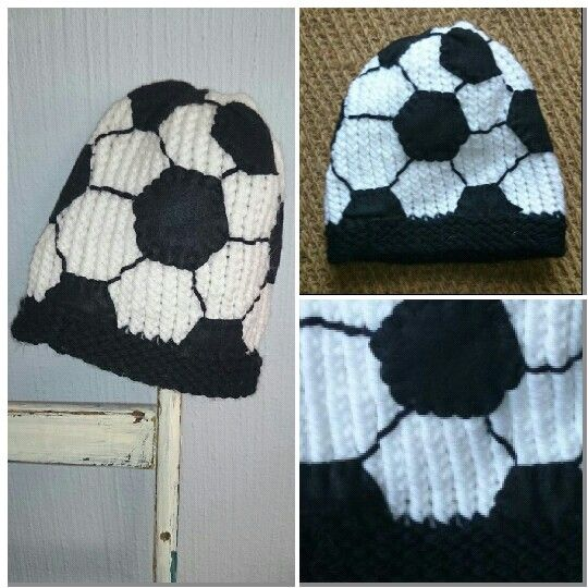 0768375be14 Soccer ball hat (loom knitted) by twinkle twinkle