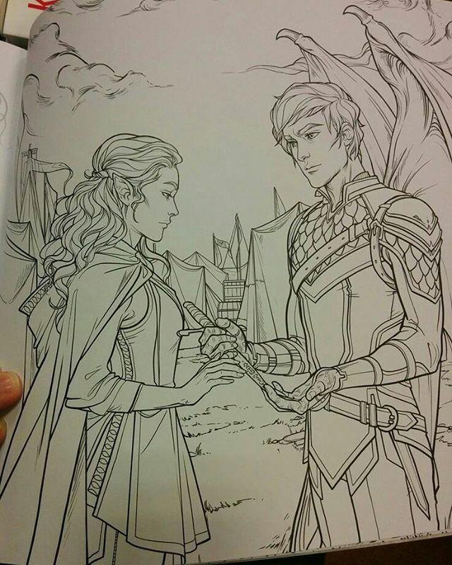 ELAIN AND AZRIEL WHEN HE GAVED