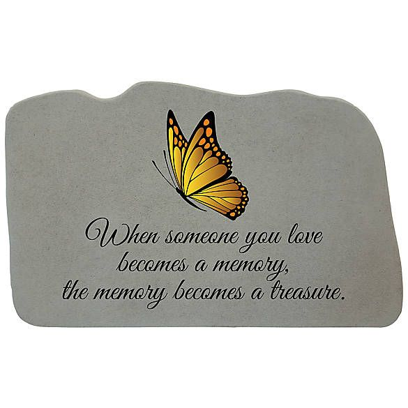Kay Berry When Someone You Love With Yellow Butterfly Pet Memorial Stone