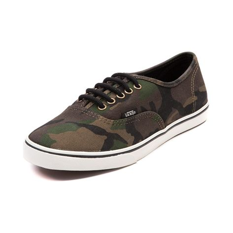 cf8305b3459123 Vans Authentic Lo Pro Camo Skate Shoe in Olive Camo