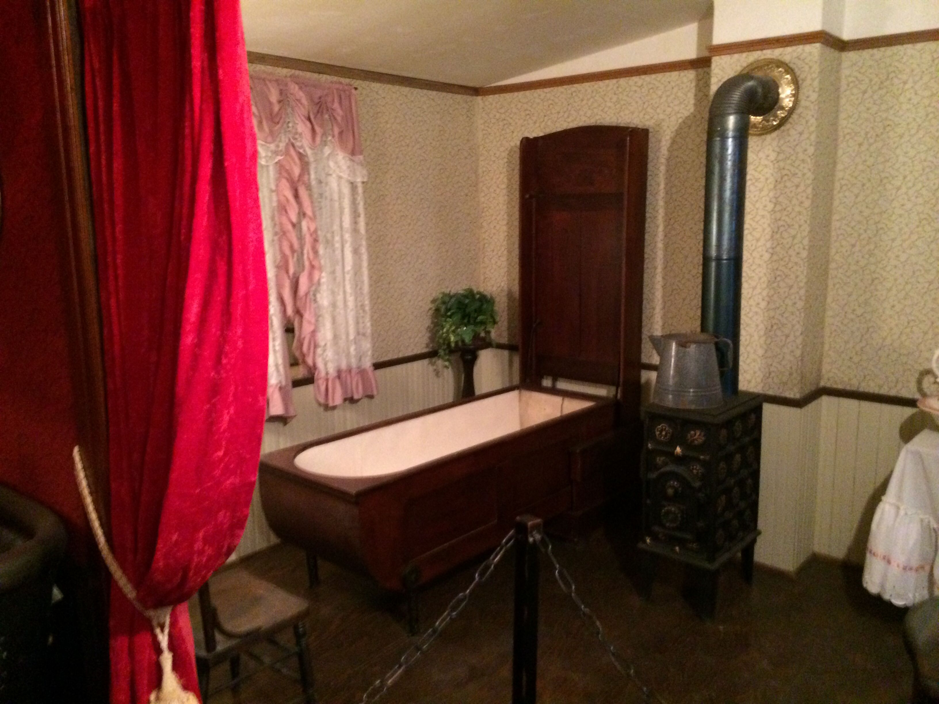 Brothel in old saloon, now museum. ThIs is a Murphy tub; similar to ...
