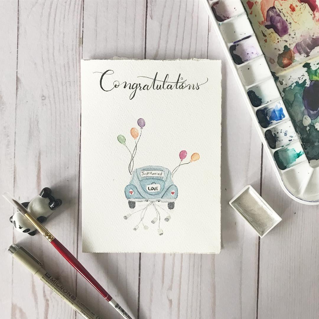 Wedding Card Beetle Card Love Card Congratulations Card