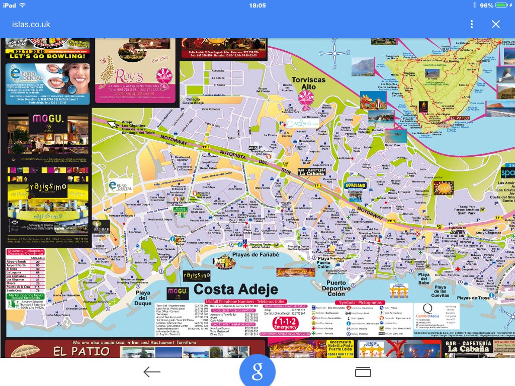 Street map Costa adeje juleferie Pinterest