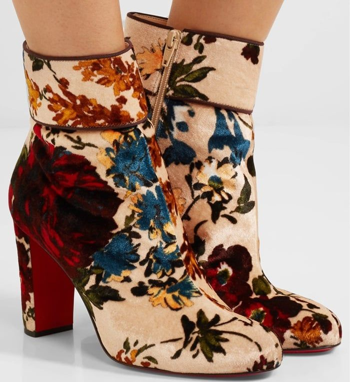 Christian Louboutin Moulamax Floral Ankle Boots cheap footlocker G6RkkH
