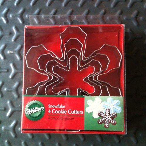 Wilton Snowflake Cookie Cutters, set of 4 | eBay