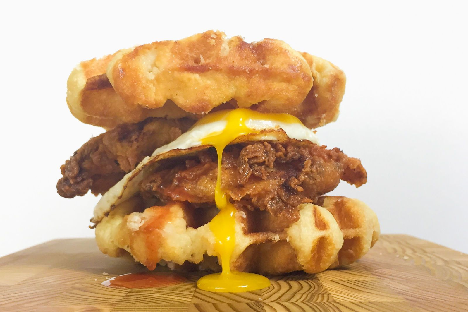 Insane Breakfast Sandwiches to Kick Off Your Day Who needs buns when you've got waffles? Get the recipe: Chicken and Waffles Breakfast Sandwich   - Who needs buns when you've got waffles? Get the recipe: Chicken and Waffles Breakfast Sandwich   -