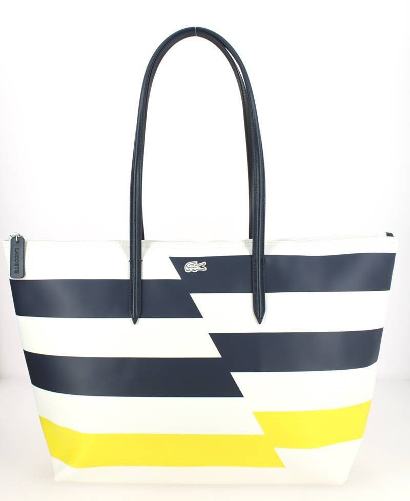 Grand sac shopping LACOSTE Cyber Yellow