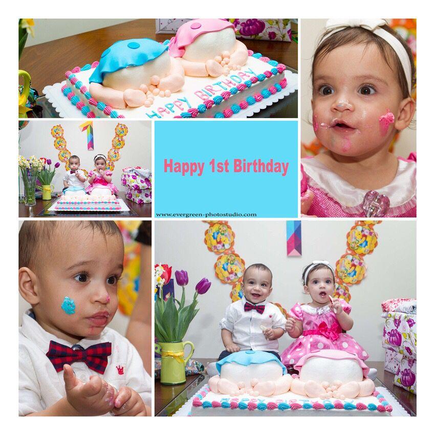 Collage for twins happy birthday happy 1st birthdays