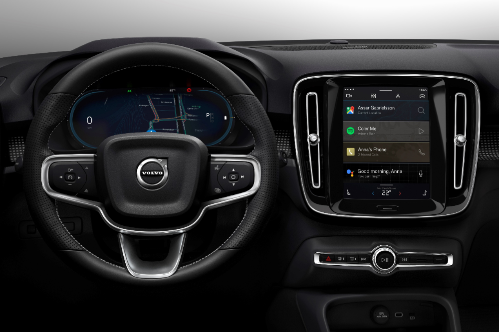 Volvo Unveils Its First Electric Car The Xc40 Recharge Techcrunch Volvo Infotainment System Infotainment