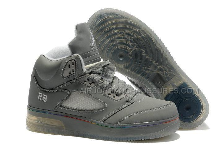 brand new f682c 4ffb2 ... nike air jordan 5 light in the sole cool grey sneakers p 2937
