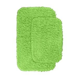 Garland Rug Jazz Lime Green 21 In X 34 In Washable Bathroom 2