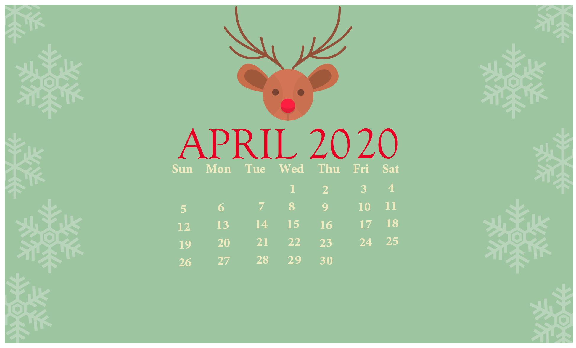 Cute April 2020 Calendar Printable Wallpapers Hd In 2020