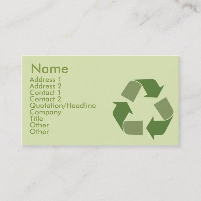Recycle Business Business Card Zazzle Com Printing Double Sided Cards Recycling