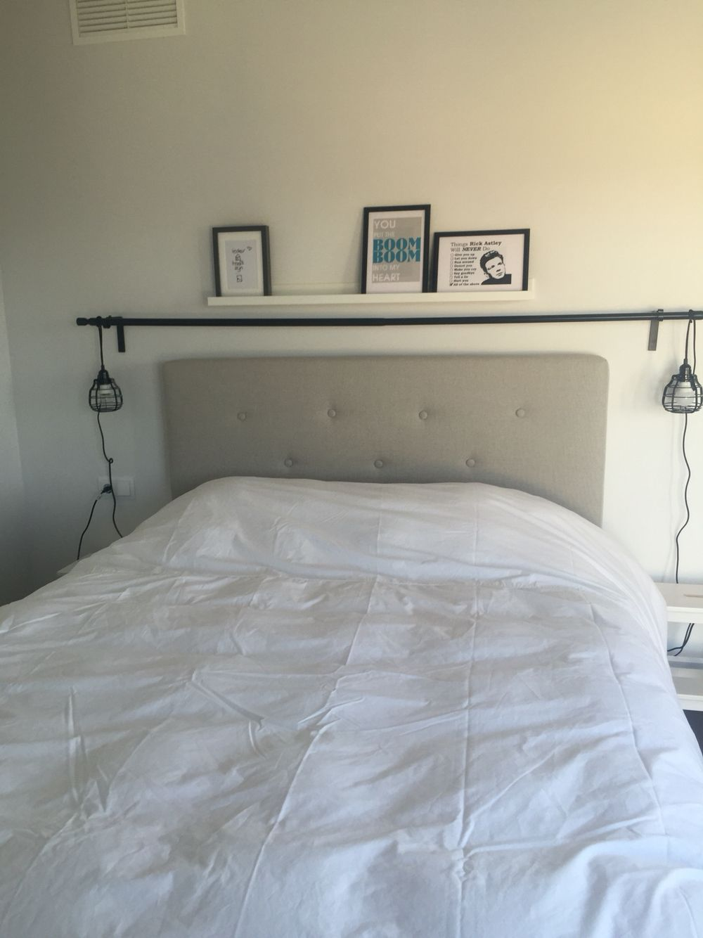 Boxspringbett ikea evenskjer  Sweet dreams #Bedroom #Ikea Evenskjer bed #HKLiving lights | Sweet ...