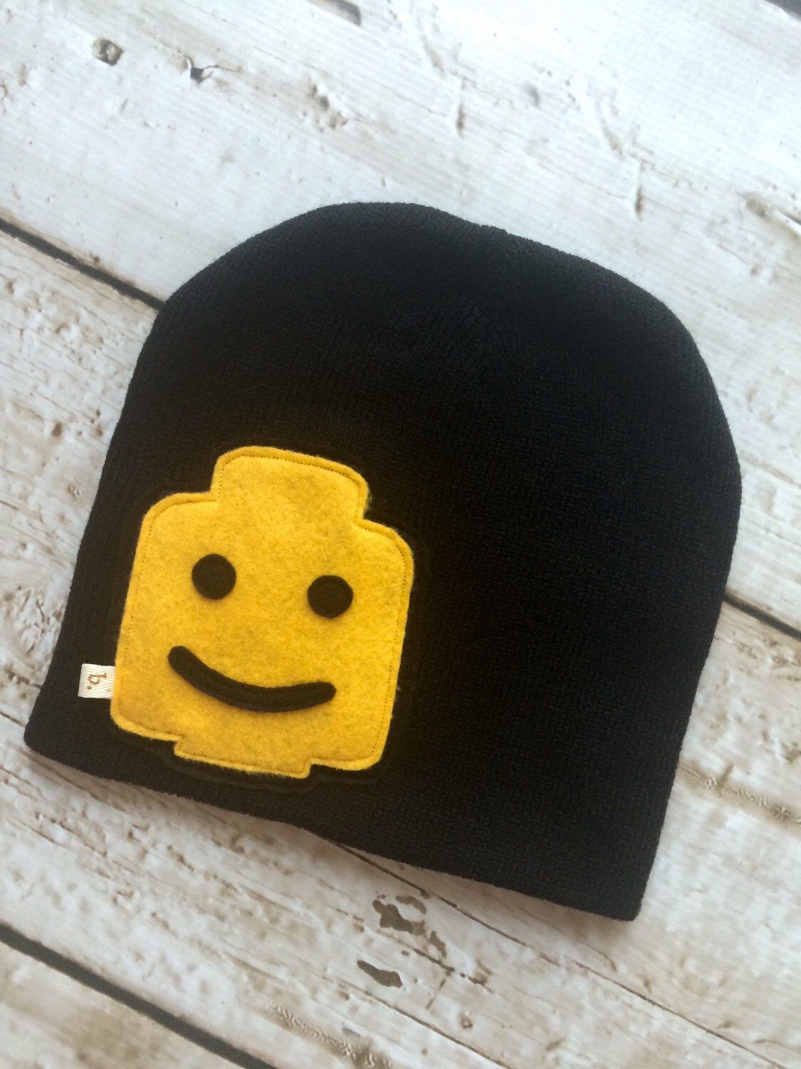 Lego Man Inspired Child/ Youth Black Knit Hat by letterbdesigns on Etsy https://www.etsy.com/listing/248897640/lego-man-inspired-child-youth-black-knit