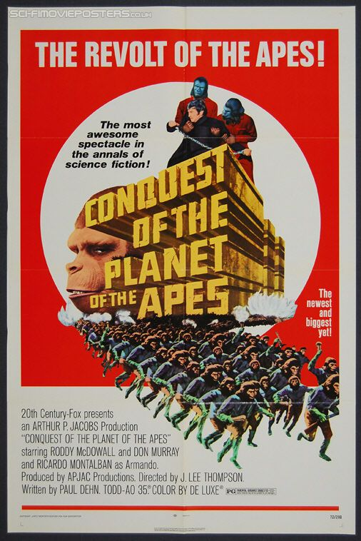Conquest Of The Planet Of The Apes With Images Planet Of The Apes Classic Movie Posters Classic Movies