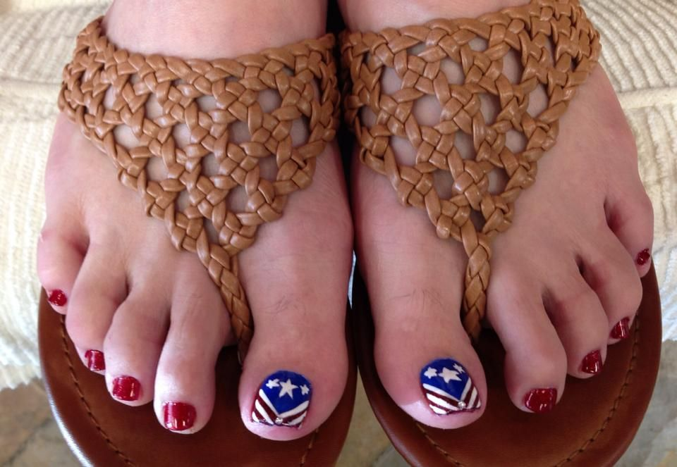 4th of July Toenails | Toes | Pinterest | America, Nails and Fourth ...