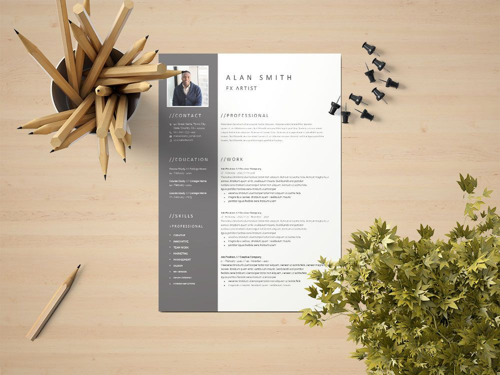 Free fx artist resume template free download in 2020