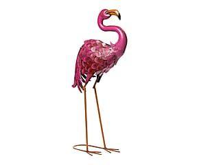 Fenicottero decorativo in metallo alice rosa 45x80x21 cm for Fenicottero decorativo giardino