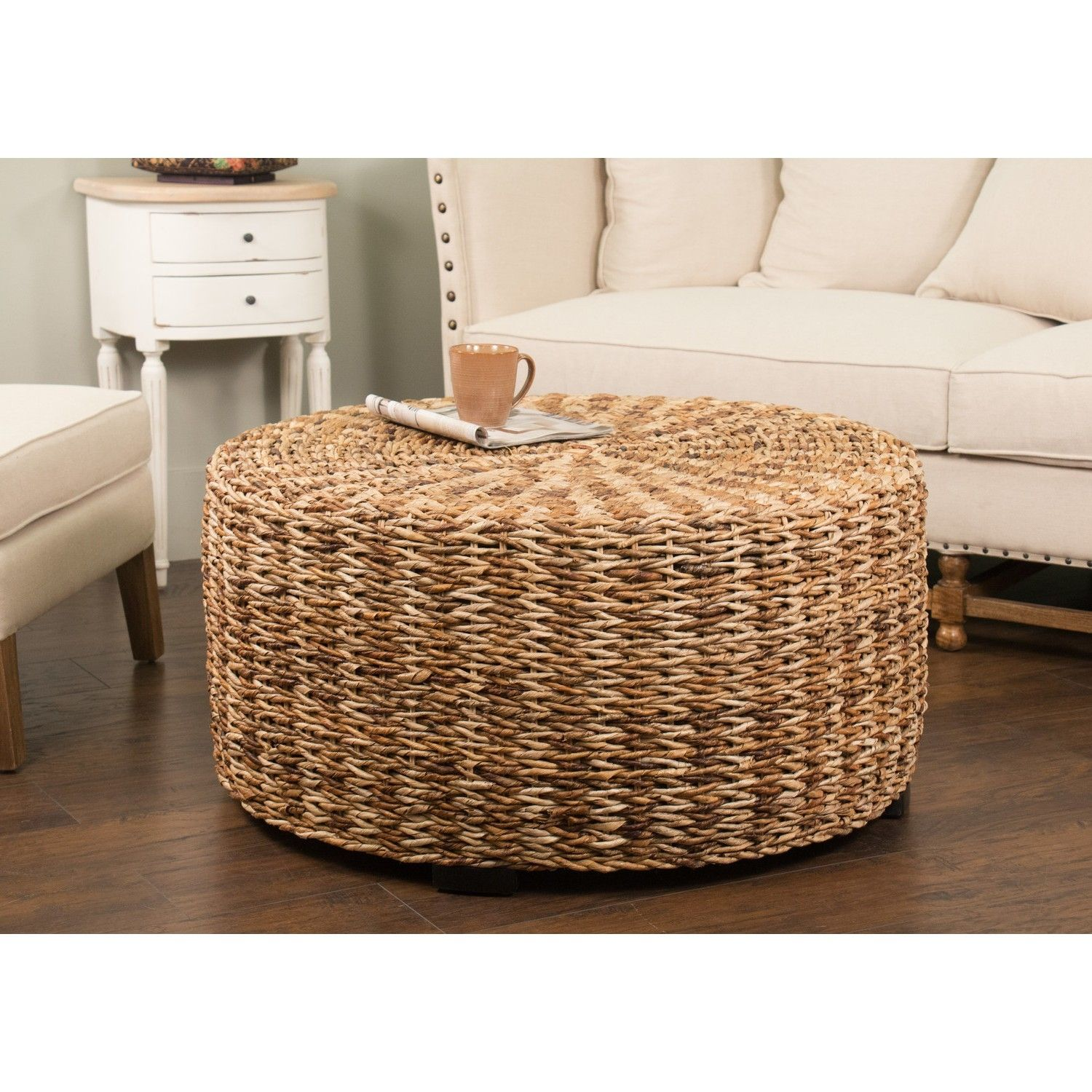 Riau Round Woven Abaca Coffee Table Look Here Coffee Tables Ideas For Dimensions 937 X 937 Riau R Drum Coffee Table Footstool Coffee Table Ottoman Coffee Table [ 1500 x 1500 Pixel ]
