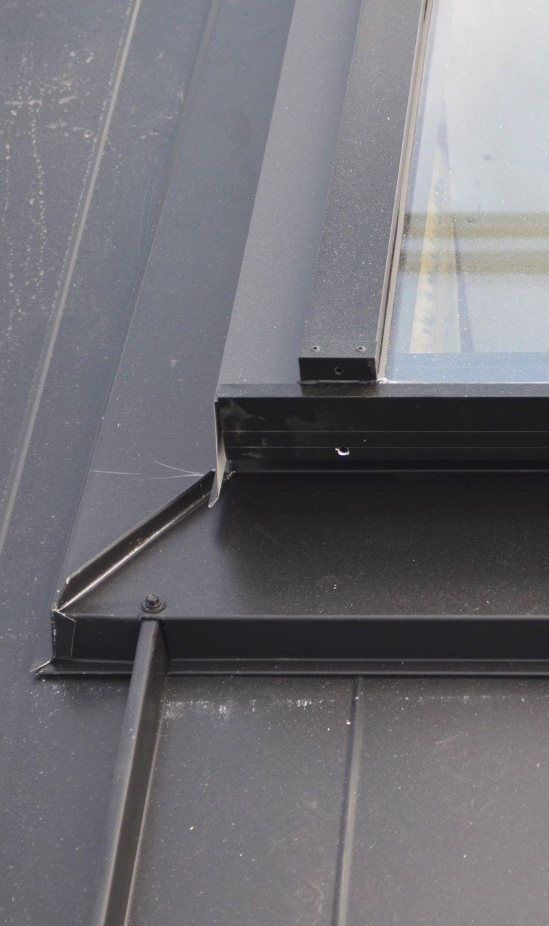 Skylight Over Metal Standing Seam Roof Corner Detail