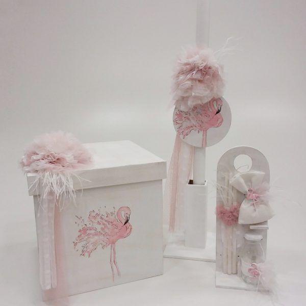 c69bf3655fe χειροποίητο σετ βάπτισης... by Elena Manakou   flamingo   Flamingo ...
