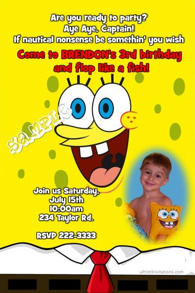 Spongebob squarepants birthday invitations get these invitations spongebob squarepants birthday invitations get these invitations right now design yourself online download and stopboris Choice Image