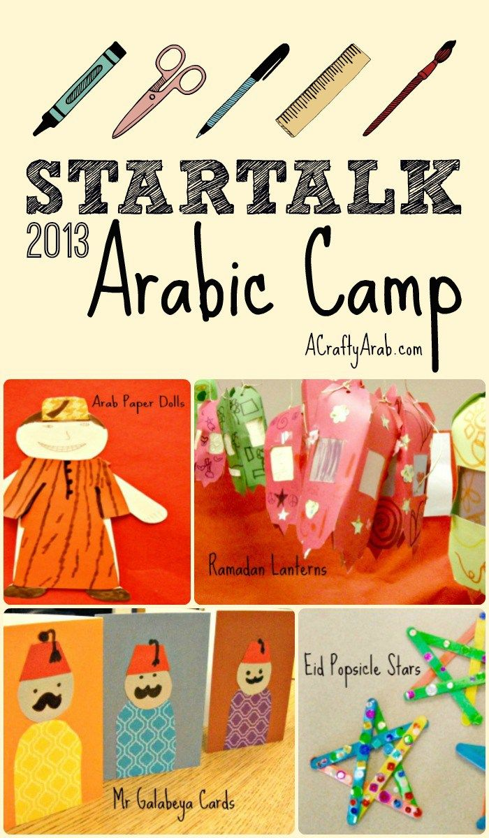 Startalk Arabic Language Camp 2013 Resource Middle Eastern Art Kids Art Projects Projects For Kids
