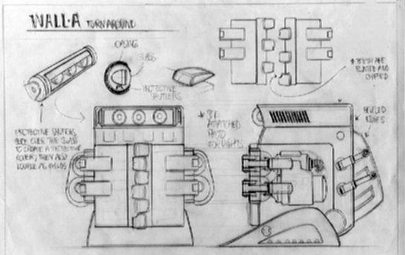 Concept art for the Wall-A robots in Wall-E   Concept Artist: Pixar ...