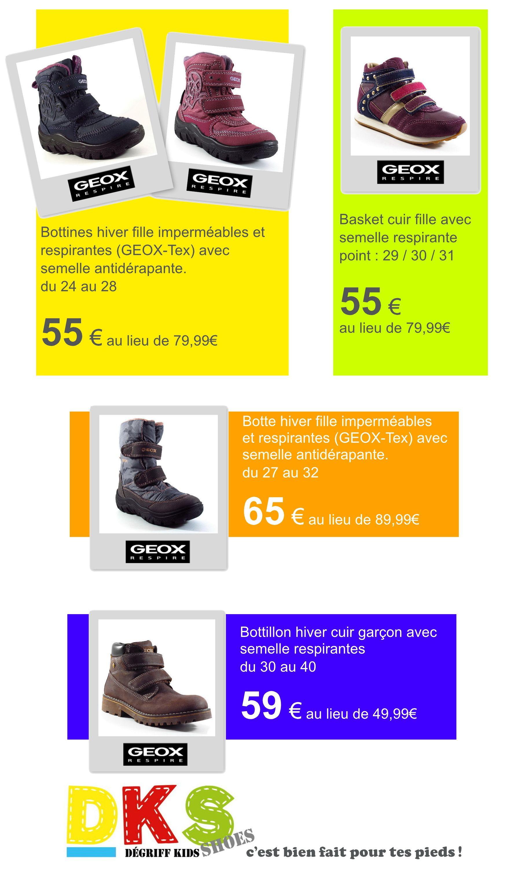 34886bdd653 Arrivage de chaussures hiver GEOX. semelle respirante. Fille et ...