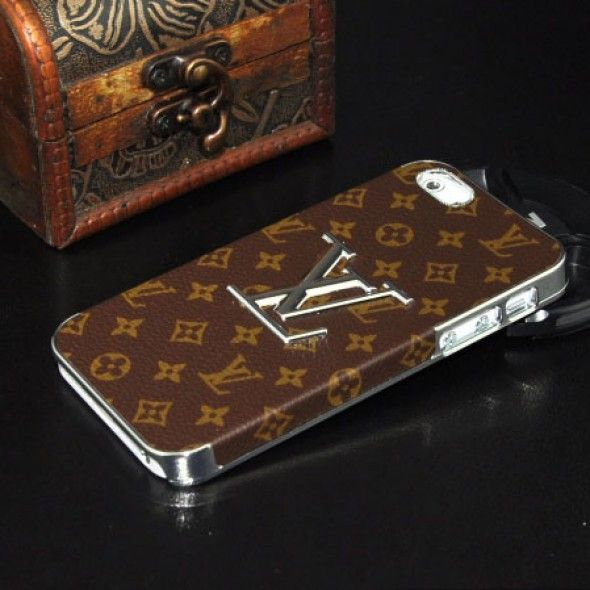 check-out c5aa8 84e8c Louis Vuitton iPhone 5S / 5 Case Silver LV Designer Monogram ...