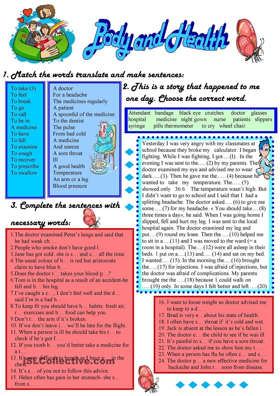 Health Worksheets For Kids Writing Words Worksheets [ 1440 x 1018 Pixel ]