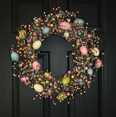 """Easter """"Egg"""" wreath"""