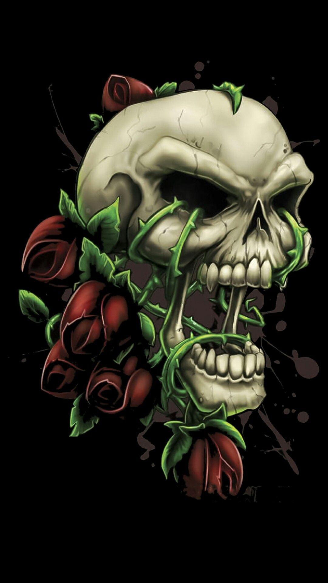 Rose vines Skull