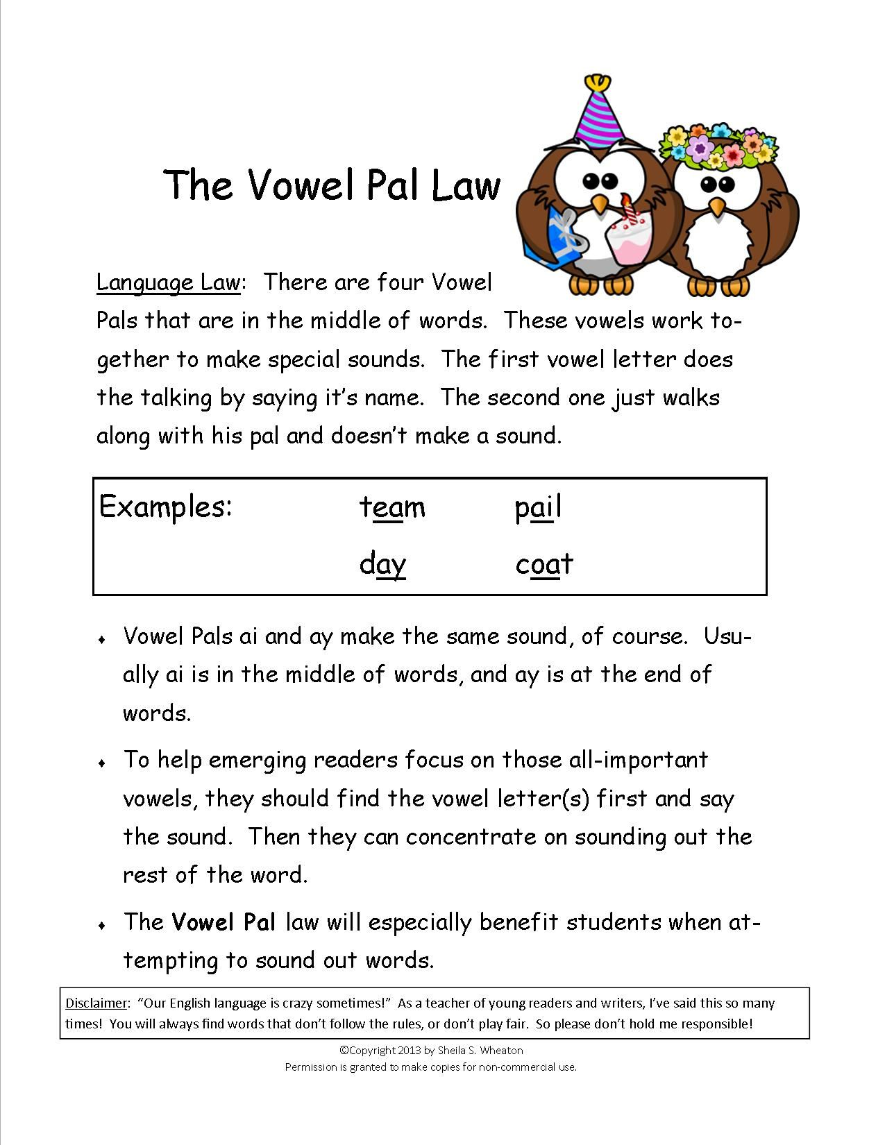 Oa Ai Ea Worksheet   Printable Worksheets and Activities for Teachers [ 1650 x 1275 Pixel ]