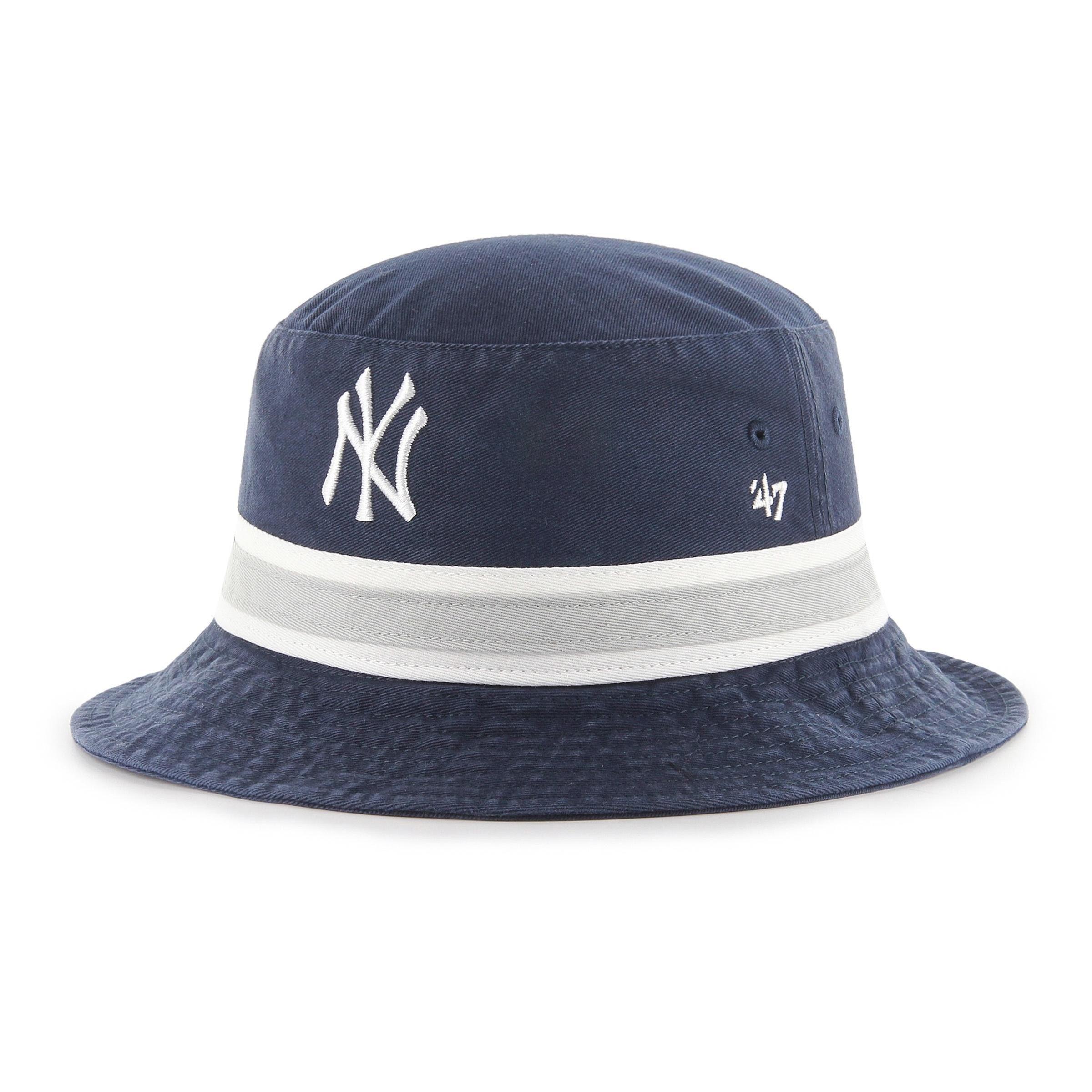 Mlb New York Yankees Navy Striped 47 Bucket Fran 47 Brand Tillverkad I 100 Bomull Nykeps Nycap Bucket Kepsmagasinet Klarna I 2020 New York Yankees Mlb Keps