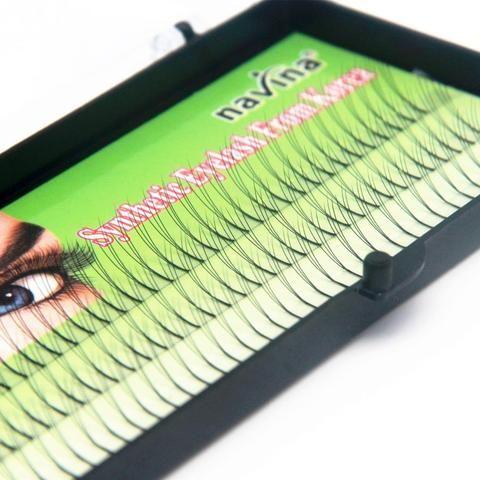f79f85e9cbd NAVINA Handmade False Eyelashes D Lash W lash Natural Long Black Individual  3D Fake Eyelash Extension