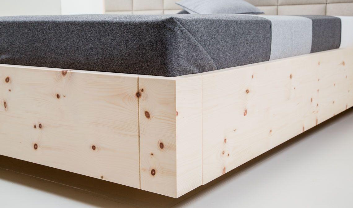 boxspringbett zirbe freiraum von zirbenherz metallfreie eckverbindung zirbenbetten. Black Bedroom Furniture Sets. Home Design Ideas