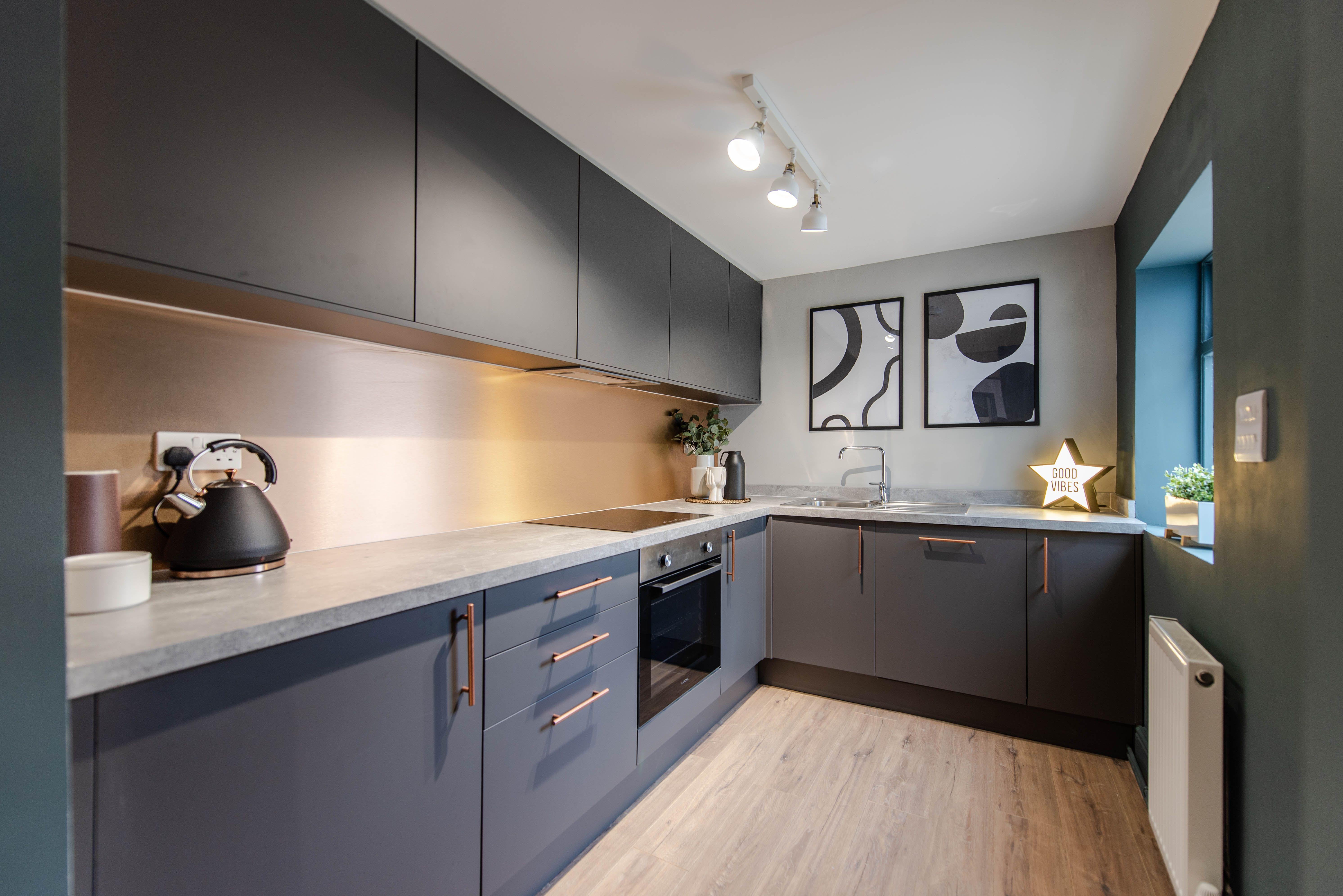 Greenwich Super Matt Graphite Modern Grey Kitchen Grey Kitchen Kitchen Suppliers