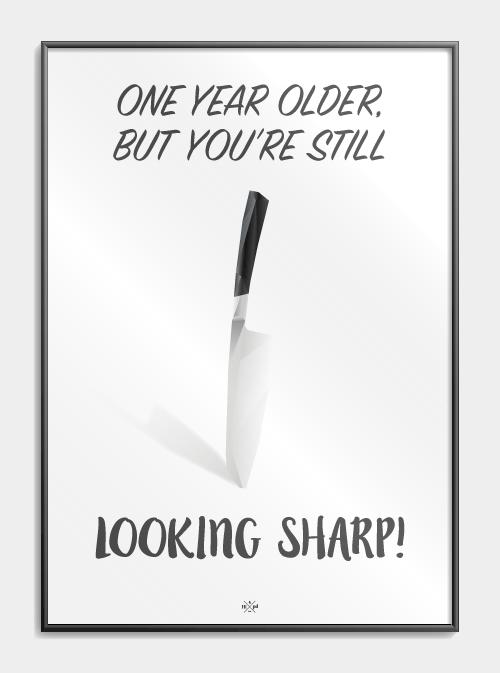 Far Jokes One Year Older But You Re Still Looking Sharp Citatplakat Dk Jokes Tillykke Med Fodselsdagen Sjov Sjove Jokes