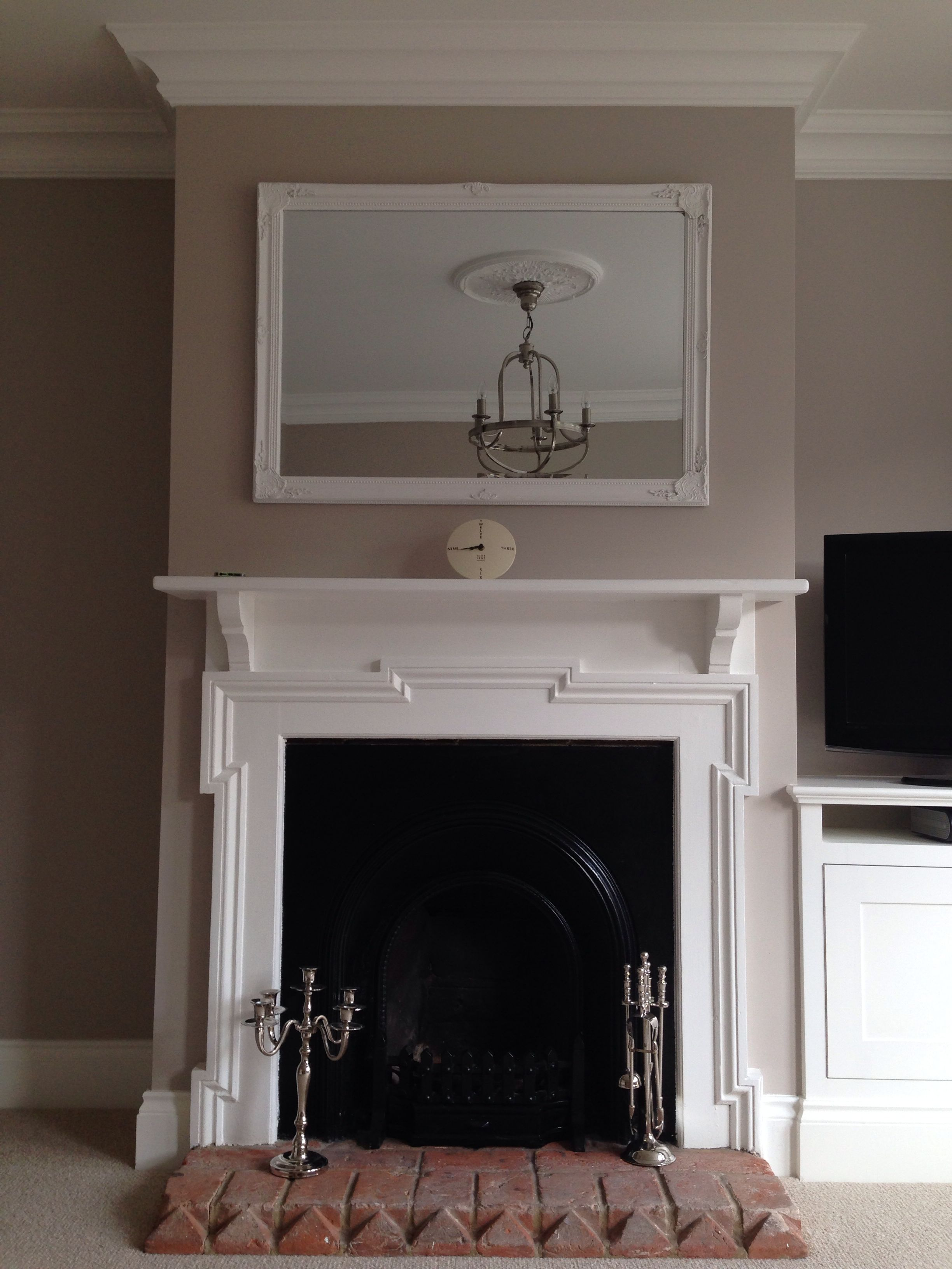 Peinture Farrow And Ball Pour Meubles Victorian Fireplace Over Mantle Mirror Farrow And Ball