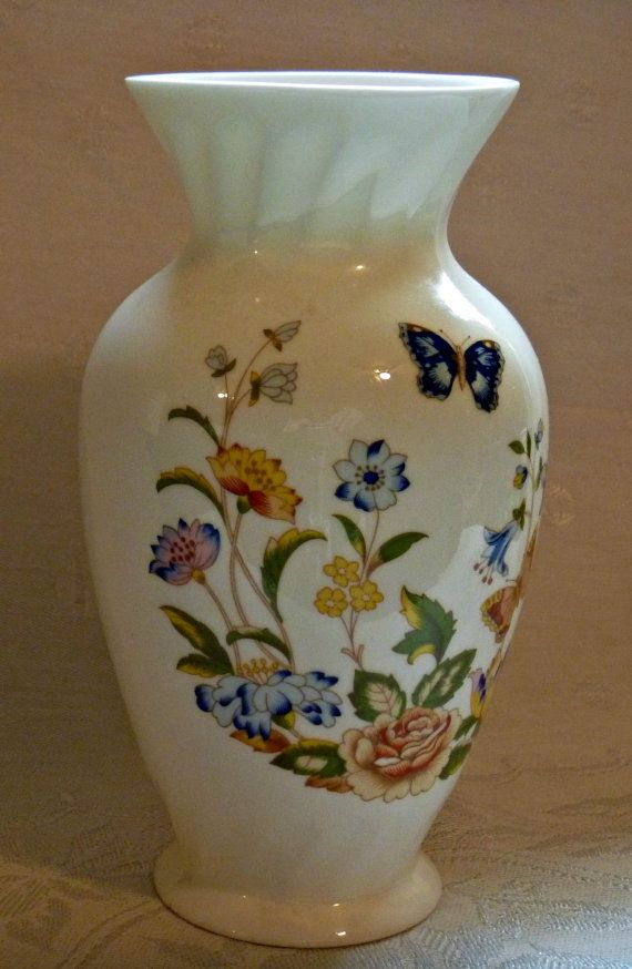 Aynsley Fine Bone China Vase Cottage Garden By Eaupleinevintage